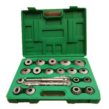 23PCS HIGH CARBON STEEL Valve Seat & Face Cutter Set For Agricultural machinery(China)