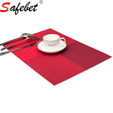 6 Colors New Waterproof PVC Square Placemat For Dining Table Non-slip Desk Mat Disc Bowl Cup Coasters