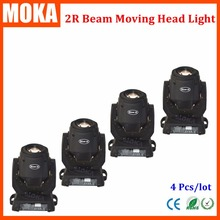 4 pcs/lot 2r dj light moving heads sharpy beam led movinghead disco lights DMX stage light for theater events concerts shows