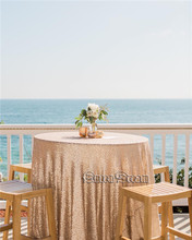 90 inch round tablecloth linen tablecloth outdoor tablecloth Sequin Tablecloth Wholesale Sequin Table Cloths(China)