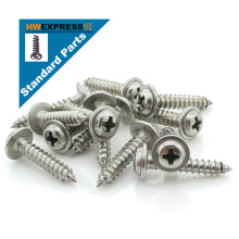 HWEXPRESS 304 Stainless Steel Head Tapping Screws With Pad M2.6*6