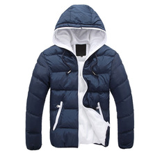 Thoshine 2017 Brand Men Cotton Jacket Zip Hooded Winter Outwear Coats Male Keep Warm Casual Jackets Coat Thicken Windbreakers