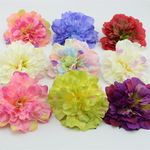 11cm Home accessories artificial flower dahlia silk flower bags diy hat flower decoration flower