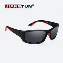JIANGTUN New Sunglasses Polarized Men Brand Designer TR90 Quality Sun Glasses Outdoor Black Goggles Rubber Nose Pads Oculos(China)