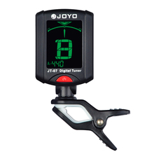 JT-07 Digital Clip-on Tuner Guitar Tuners JOYO Tuner JT07 A4 Frequency 440Hz Guitar Accessories