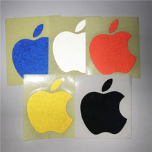 Six colors apple logo High Quality Stickers For Audi BMW Mercedes VW Car Windows Bumper motorcycle Reflective DIY car-covers