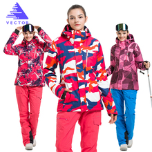 VECTOR Brand Ski Suit Women Warm Waterproof Skiing Suits Set Ladies Outdoor Sport Winter Coats Snowboard Snow Jackets and Pants(China)