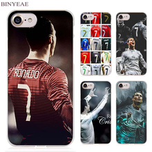 BINYEAE cristiano ronaldo cr7 Clear Cell Phone Case Cover for Apple iPhone 4 4s 5 5s SE 5c 6 6s 7 Plus(China)