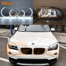 For BMW X1 E84 2010 2011 2012 2013 2014 Halogen headlight Excellent C-Shape Style Ultra bright illumination CCFL Angel Eyes kit(China)
