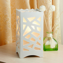 Ivory White Through-Cared LED Desk Lamp, Modern Urban Style Decoration Table Lamp, Abajur