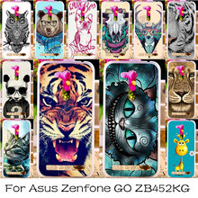 Silicone Plastic Phone Case For Asus Zenfone GO 2nd Gen ZB452KG Bag Cover ASUS_X014D ZB450KL 4.5 inch Cat Tiger Shell Cover Case