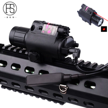 Good Quality Tactical LED Flashlight Red Dot Laser Sight Scope For Guns Rifle 20mm Rail Hunting Airsoft Laser Flashlight