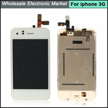 Brand New LCD Screen Replacement +Touch Screen Digitizer+Home Bottton Full assembly For IPhone 3G White