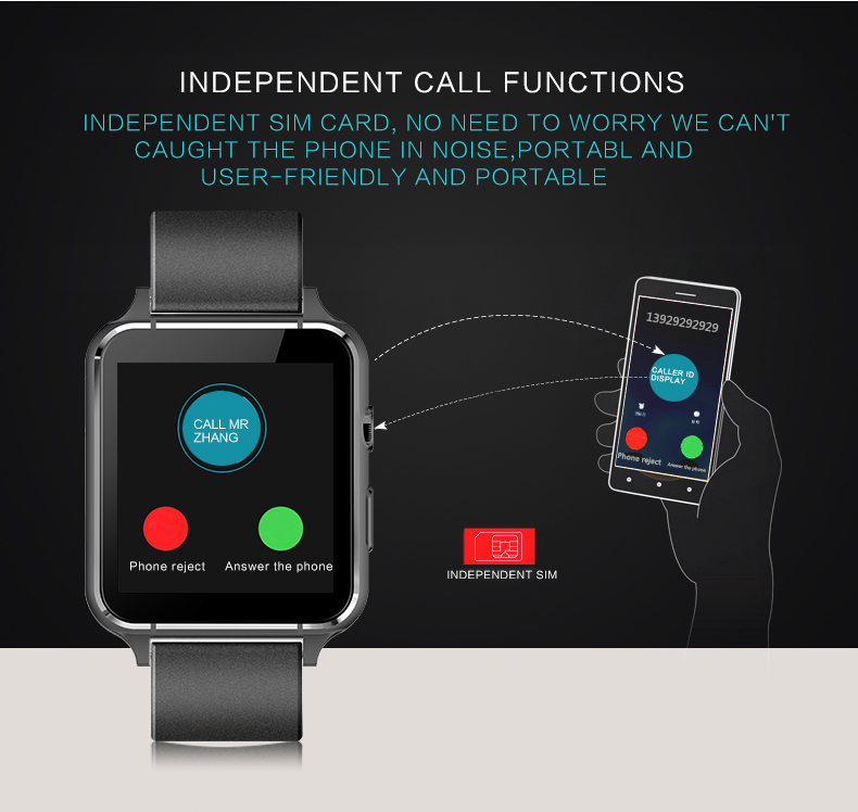 JAYSDAREL M88 3D Arc Screen Heart Rate Monitor Smart Watch With Camera Support Sim TF Card Bluetooth Smartwatch for IOS Android