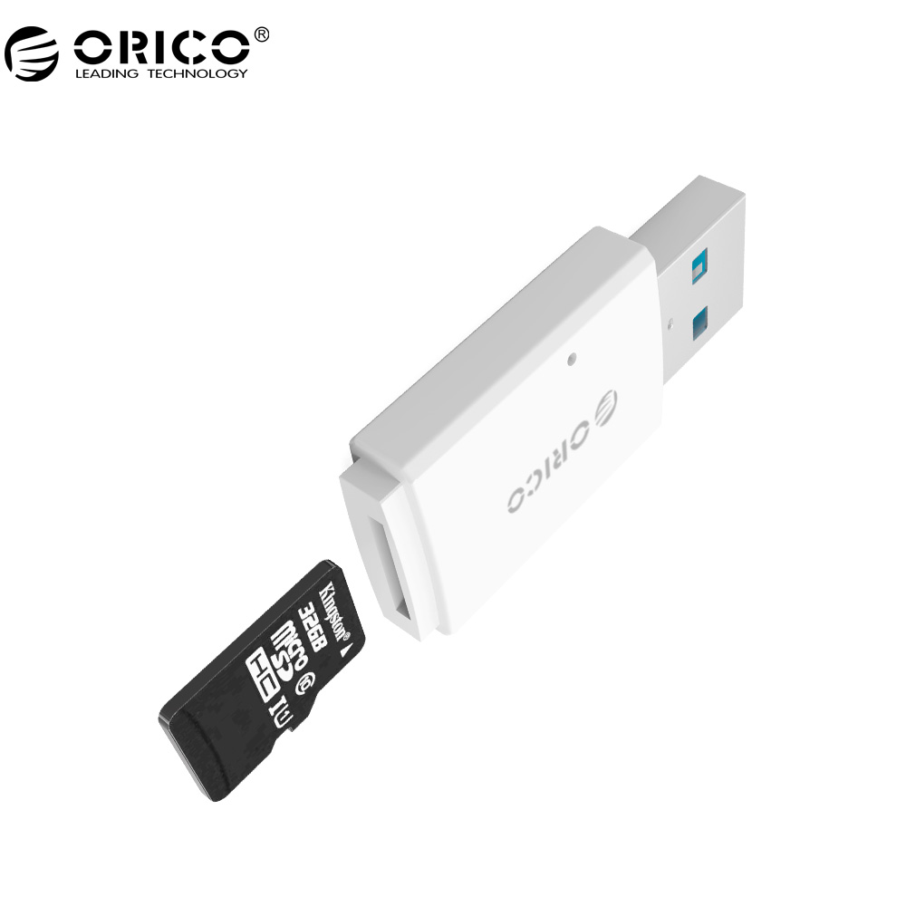 ORICO CRS11 Mini Card Reader Mobile Phone Tablet PC USB 3.0 5Gbps for Micro SD/TF -White(China (Mainland))