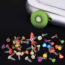 10pcs Earphone Limited Dust Plug Dachshund New Cute fruit Dustproof Plug Caps Cell Phone Accessories 3.5mm for Huawei iPhone LG(China)