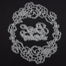 "99x98mm ""Best Wish"" scrapbooking DIY Craft Metal steel cutting dies Stencils Book photo album card Dies Cut Embossing Metal"