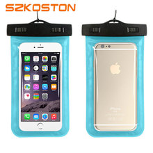 Waterproof Case for iphone 5 5s 6 6s 7 ,Universal TPU Dry Bag Pouch,Best Water Proof, Dustproof,Snow proof for Any Cell Phones(China)