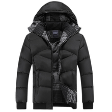Winter Coat Men Casual Windbreaker Hooded Cotton Duck Mens Jackets And Coats Male Thick Warm Padded Overcoat Jacket