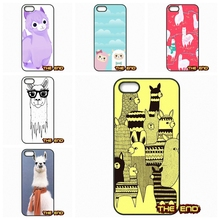 Kawaii Alpacas Wallpaper Pattern Cell Phone Cases Covers For iPhone 4 4S 5 5C SE 6 6S 7 Plus Galaxy J5 A5 A3 S5 S7 S6 Edge