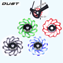 DUST 11T Ceramic Bearings Bicycle Rear Derailleur Jockey Wheel For MTB Cycling Adjustable Sets Ultralight Bike Guide Pulley