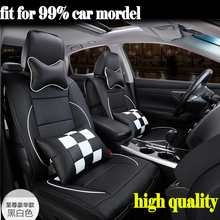 Luxury Leather Car Cushion seat covers Front&Rear Complete Set 5 seat for Toyota Camry Corolla RAV4 Highlander YARIS CROWN Reiz