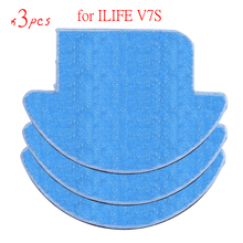 3 pcsx ILIFE Robot Vacuum Cleaner MOP Cloth Fiber for ILIFE V7S Replacement Mop Cleaning Robot Vacuum Cleaner Mop