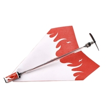 1 Set Electric Motor Paper Airplane Model DIY Power Up Flying Plane Kids Toys W15(China)