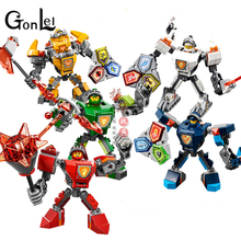 GonLeI 1Pcs Lepin 14024 Nexus Knights Nexus Powers Pouvoirs Building blocks Action Aaron Lance Clay bricks toy(China)
