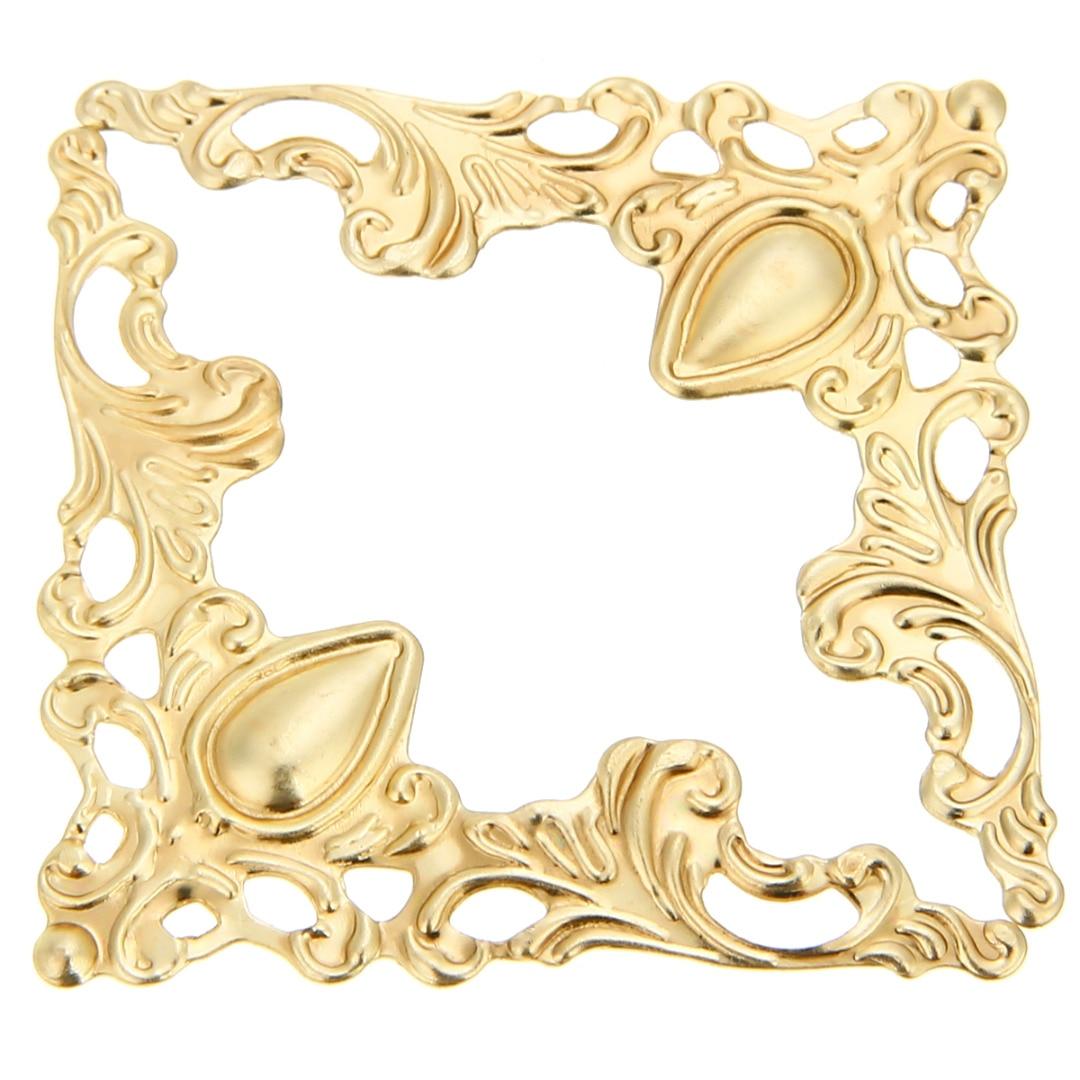 12pcs Scrapbook Book Corner  Jewelry Gift Box Album Decorative Protector Cover 41x41x0.5mm Silver/Bronze/Gold