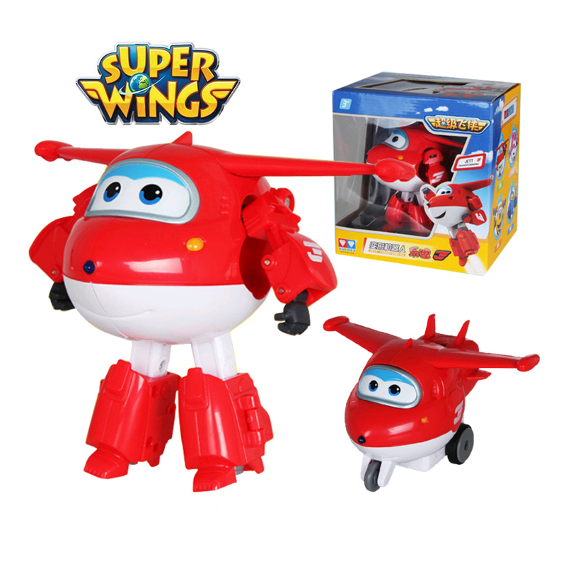 Big!!!15cm ABS Super Wings Deformation Airplane Robot Action Figures Super Wing Transformation toys for children gift Brinquedos<br>