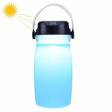 Portable Rechargeable LED Camping Lantern lamp USB Power Bank Outdoor Waterproof Collapsible Solar Silicone Bottle Camping light