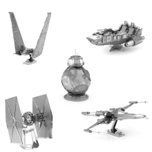 star wars Etching bb8 Trek Space ship 3D metal model Enterprise NCC1701 action figure DIY collection model kids toys Christmas