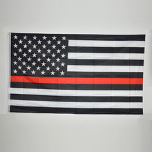 90*150CM Blue Line usa Police Flags 3 By 5 Foot Thin Blue Line USA Flag Black, White And Blue line Flag With Grommets(China)