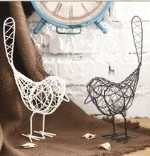 Free Shipping! Postral Style Iron Fashion Bird Metal Craft Living Room & Home Decoration Creative Gift Simulation & Wire Craft(China)