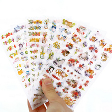 12 pcs/Lot Cat & Flowers cartoon stickers Garden birds fruit sticker decoration for diary phone Stationery School supplies 6956(China)