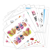 43pcs Flower Butterfly Fruit Cake Ice Cream Nail Art Water Transfer Decal Sticker Nail Tip Manicure Decor Tool Wrap JISTZ470-512(China)