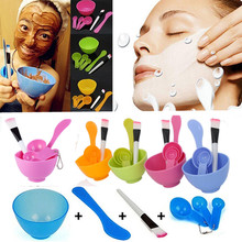 4 in 1 Homemade Makeup Beauty DIY Facial Face Mask Bowl Brush Measuring Spoon Tool Set Skin Care Make up Tools Kit Accessories