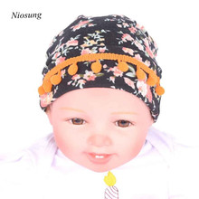 Niosung New Newborn Baby Halloween Tassels Hospital Hats With Flower Fashion Flower Hat For Halloween  Party v
