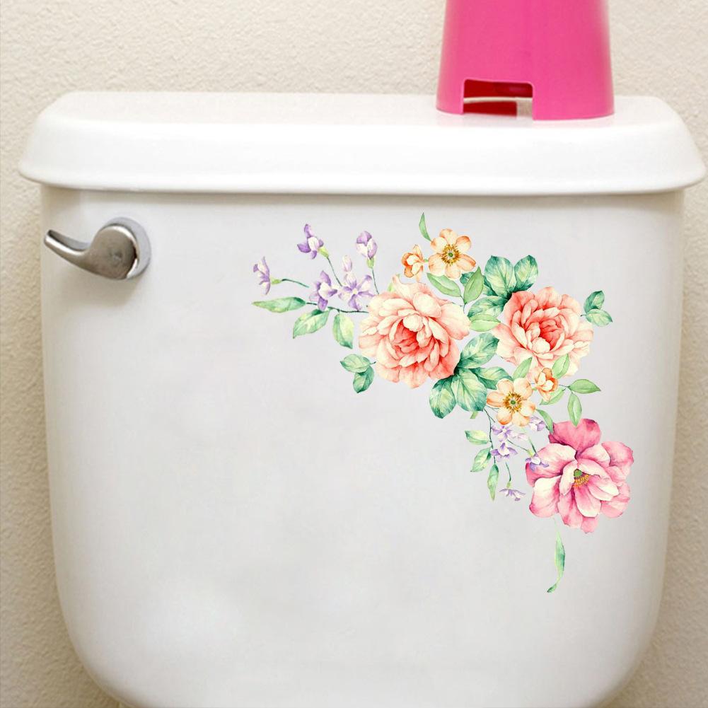 HTB1FqDdcjqhSKJjSspnq6A79XXa1 - Colorful Flowers 3D Wall Stickers Beautiful Peony Fridge Stickers Wardrobe Toilet Bathroom Decoration PVC Wall Decals/Adhesive