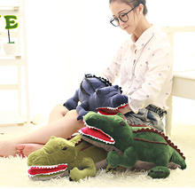 1pc 50cm simulation sea crocodile alligator plush doll pillow hand warm novelty creative romantic girl festival stuffed toy gift