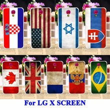 UK Mexico Russia Brazil National Flag Silicon Cases For LG X SCREEN X View Covers X-screen K500DS Housing Bag Phone Shell Hood