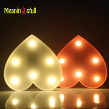 Romantic Marquee Light Heart Shap Led Night Light Battery Power Table Lamps For Valentine Birthday Gift Wedding Party Home Decor(China)