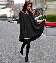 Hot Fashion Women Spring Autumn Dress 2017 Long Sleeve Solid Short Casual Party Dresses Loose A-line Mini t shirt Dress Vestidos
