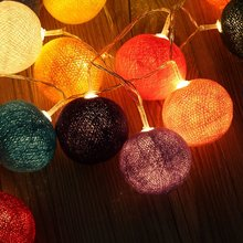 Chain of bright lights LED 20-Balls Color Lamp Party Wedding Christmas Decor(China)