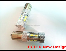 Free Shipping 4 Pcs 5630/5760 SMD Led 1156 P21W 382 BA15s Indicator Amber/Orange Bulbs (opposite pins)