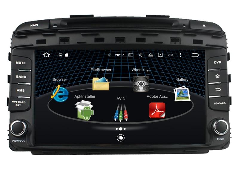 KANOR Android 6.0 Octa Core RAM 2G Car DVD GPS Radio stereo For KIA Sorento 2015 Bluetooth USB WIFI Car PC Audio
