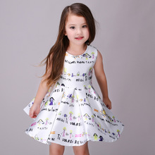 2016 Summer Girls Dresses For 3-10 11 12 Years Cute Baby Girls Frocks Designs Cute Frocks For Girls Prom Princess Costume