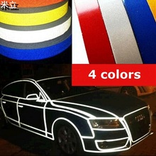 Night Magic Reflective Tape Car-styling 1cm*5m Automotive Body Motorcycle Decoration for Golf toyota kia bmw ford Passat