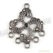 2012 Hot 60pcs/lot New Connectors Pendant Alloy Antique Silver Plated Jewelry Finding Fit Jewerly DIY 31*25*2mm 142779